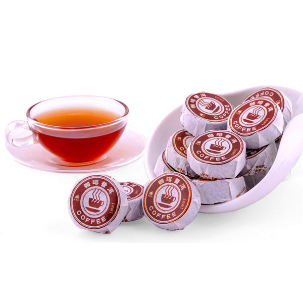 Spring 2014 Puerh Green Slimming Coffee Flavor Puer Mini Cake Have Cofee Beans Pu Er Cofe