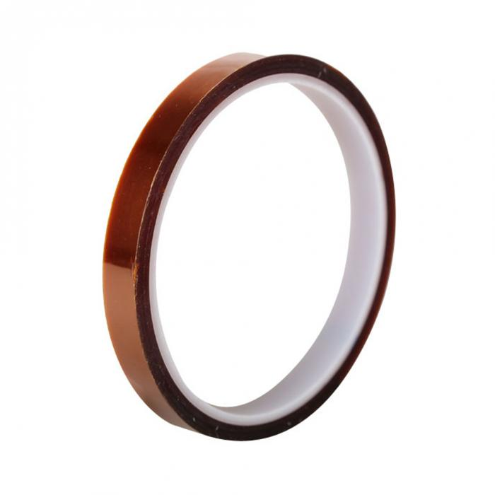 Professional High Temperature Resistance Accessories 10mm X 33m Tawny Thermostability Tape Dedicated Heat Tape  AA