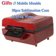 7 Mobile Moulds 50pcs Sublimation Blanks Case 12 Mug Wrap Printing Package 3D Sublimation Vacuum Machine Heat Press ST3042(China (Mainland))
