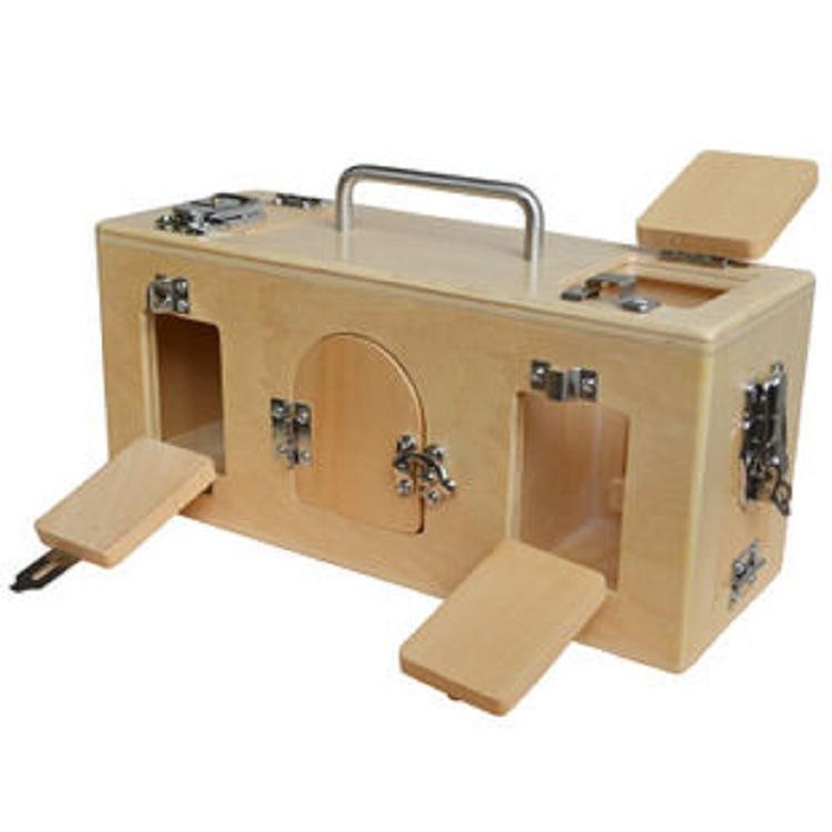 Фотография D2 Montessori lock box wooden educational Early childhood preschool nursery toys Memory Game Learning  Training