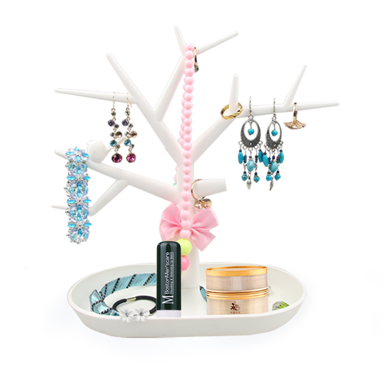 Multifunctional Tree Branch Shape 4 Colors Jewelry Display Bracelet Shelf Earrings Necklace Ring Display Stand Cosmetic Storage(China (Mainland))