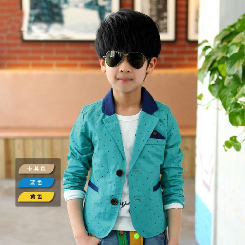2016 New Dot Print Long Sleeve Boys  Children Wedding Clothing Kid Casual Suits &amp; Autumn Jackets<br><br>Aliexpress