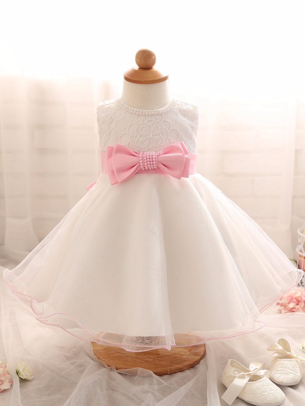2016 summer newborn baby infant girls dress princess for Wedding dresses for baby girl