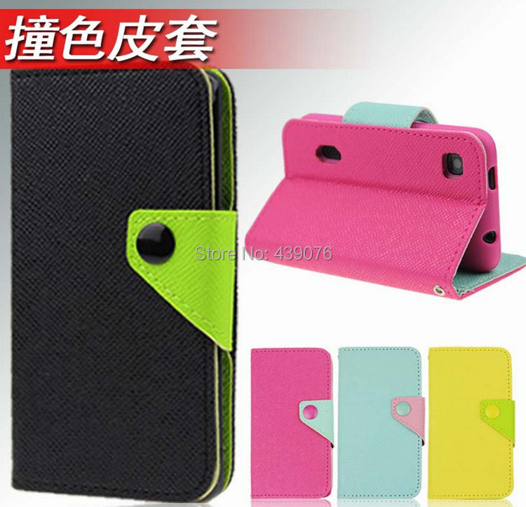 Mobile Phone Flip PU Leather Wallet Case Cover + Screen Protector Film For Zhong Xin ZTC Z5S Mini(China (Mainland))