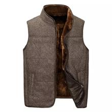 Leather suede men genuine sheepskin vest men fur vest cashmere fur sheep wool liner natural fur jacket male New Phoenix V0811(China (Mainland))