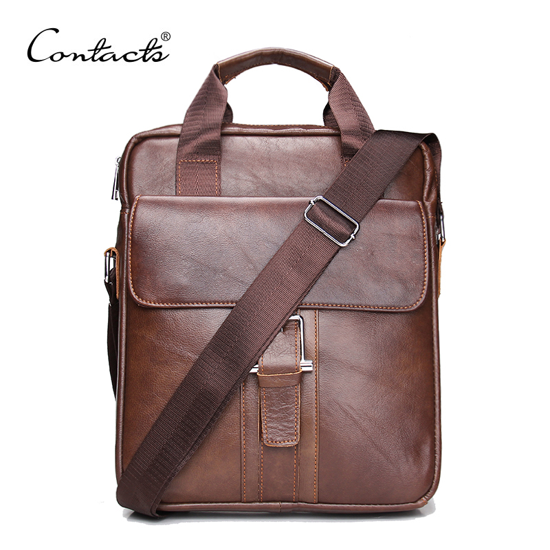 2016 New Fashion Genuine Leather Man Messenger Bags Cowhide Leather Male Cross Body Bag Casual Men Commercial Briefcase Bag(China (Mainland))