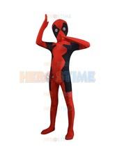 Child Newest Hot Deadpool Spandex Superhero Costume fullbody halloween Kids Deadpool Costume