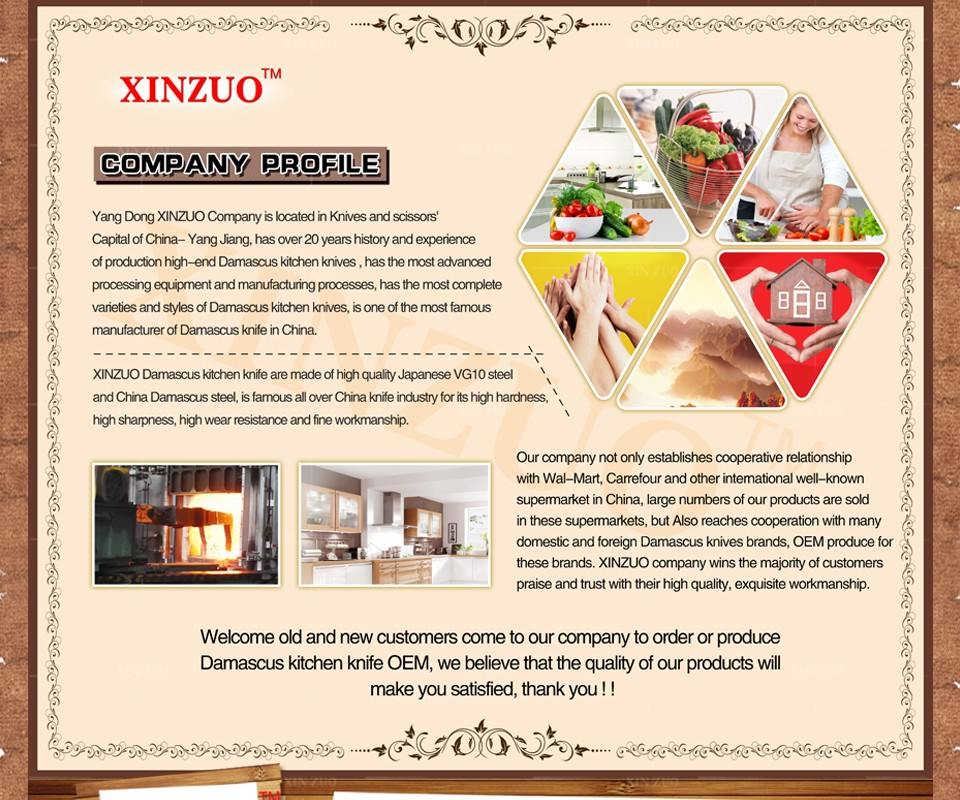 """Buy XINZUO 7 """"chef knife 73 layer Japanese Damascus kitchen knife Kithcne tool women vegetable knife Color wood handle free shipping cheap"""