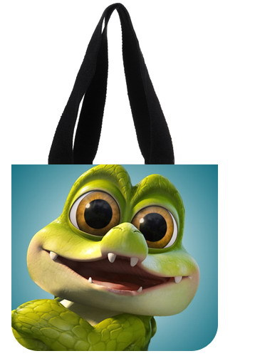 Firm hand rope bag Tinker Bell and the Pirate Fairy Cartoon Green frog big eyes design Tote bag Shopping good helper Handle bag(China (Mainland))