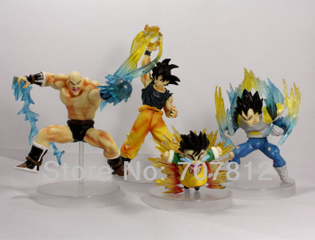 3D  Dragon Ball Z GT Action Figure Goku/Vegeta  Japanese anime figure toys 16cm 4pcs/set  Best gift collections Free Shipping