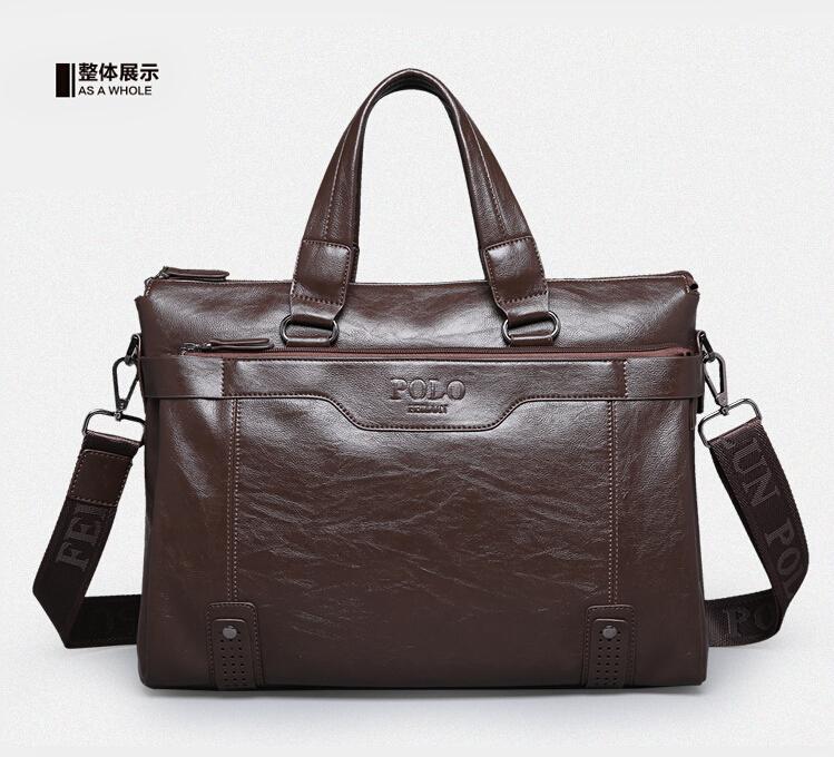 2015 Famous Brand POLO Fashion Men Messager Bags Business Genuine Leather Bag Retro Briefcase Handbag,Vintage Mens Travel Bags<br><br>Aliexpress
