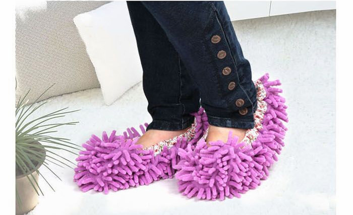 2 PCS Mop Slippers Lazy Quick House Floor Polishing Dusting Cleaning Foot Socks Shoe(China (Mainland))
