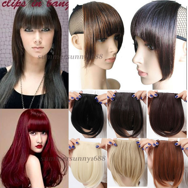 1 PC/Lot 11 Color Synthetic Heat Resistant Fiber Front Bang Hair Bang Extension With Clip in Hair Fringe US LOCAL SHIPPING(China (Mainland))