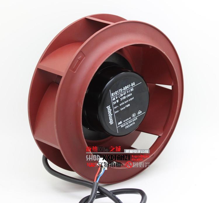 Фотография Free Shipping Wholesale Germany ebmpapst R1G175-AB41-64 48V 34W 3100RPM four line centrifugal server inverter cooling fan