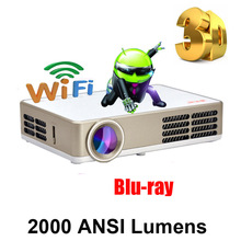 2000ANSI Android Wifi DLP LED 1080P uC30 uC40 1280x800 Pico USB Video Pocket Mini 3D Projector fUll hD Proyector Beamer Projetor(China (Mainland))