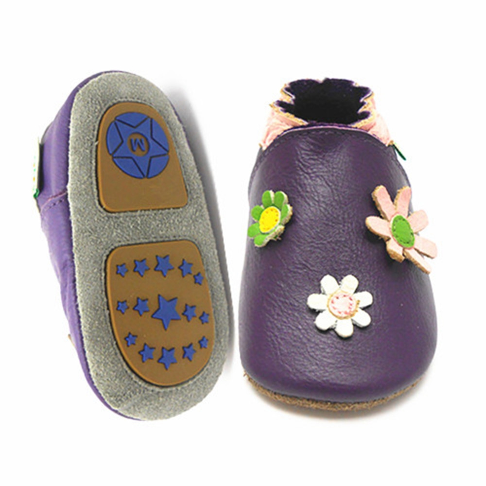 Sayoyo High Quality Branded Patent Leather Baby Moccasins Printed TPR Rubber Hard Sole Infant Baby Boy Shoe First Walkers()