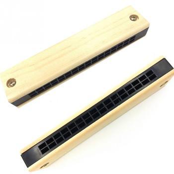 High quality Educational Musical Wooden Harmonica Instrument Toy for Kids Children Gift Randomly Kid