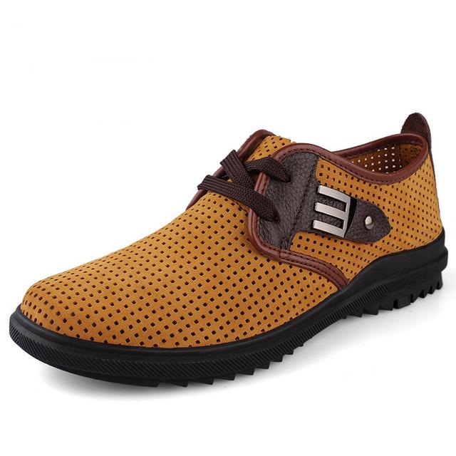 Плюс Размер Мужская Обувь Из Мягкой Кожи дышащий летняя обувь мужская кожаная обувь ...