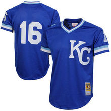 Men's Bo Jackson Royal 1989 Authentic Cooperstown Collection Batting Mesh Practice Jersey(China (Mainland))