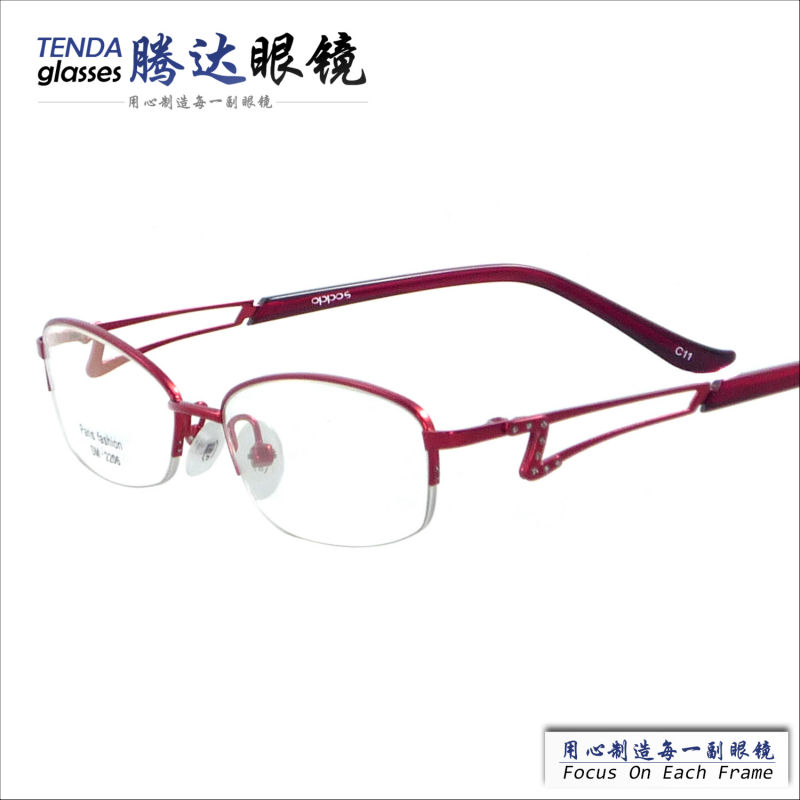 women fashion metal half rim eyeglasses frame for ...
