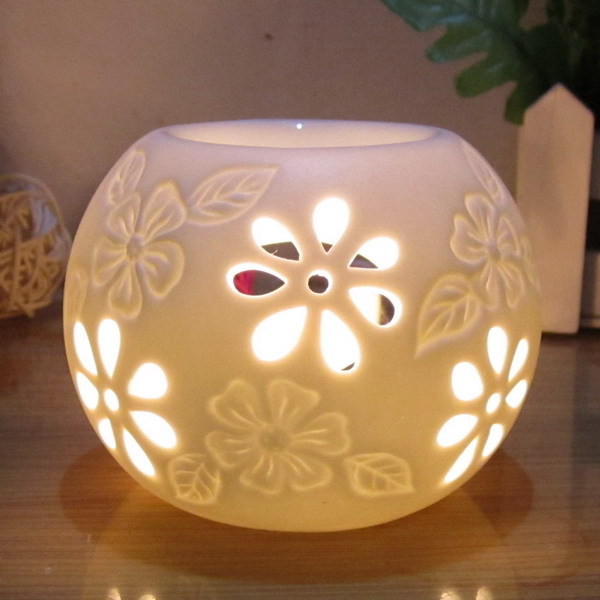 New Arrival Aroma Burner Ceramic Candle Aromatherapy Furnace Incense Base Assuaging And Calming Living Room Smell Removing 2015(China (Mainland))