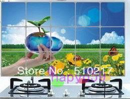 2pcs/lot kitchen stickers Anti-oil paste queen cartoon paper wall sticker  A-T models for choosing