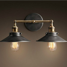 Wall lights pastoral backdrop creative personality concise art home technology industry bedside lamp bar