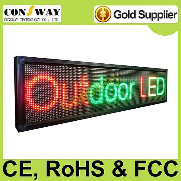 FedEx freeshipping and CE approved outdoor led information board with RGY tricolor, programmable and scrolling message(China (Mainland))