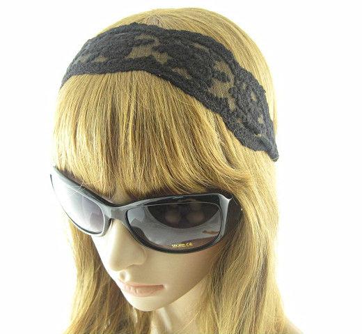 Lace Hair Accessory Fashion Wide HeadBand Women Girl Black - Wonderful store