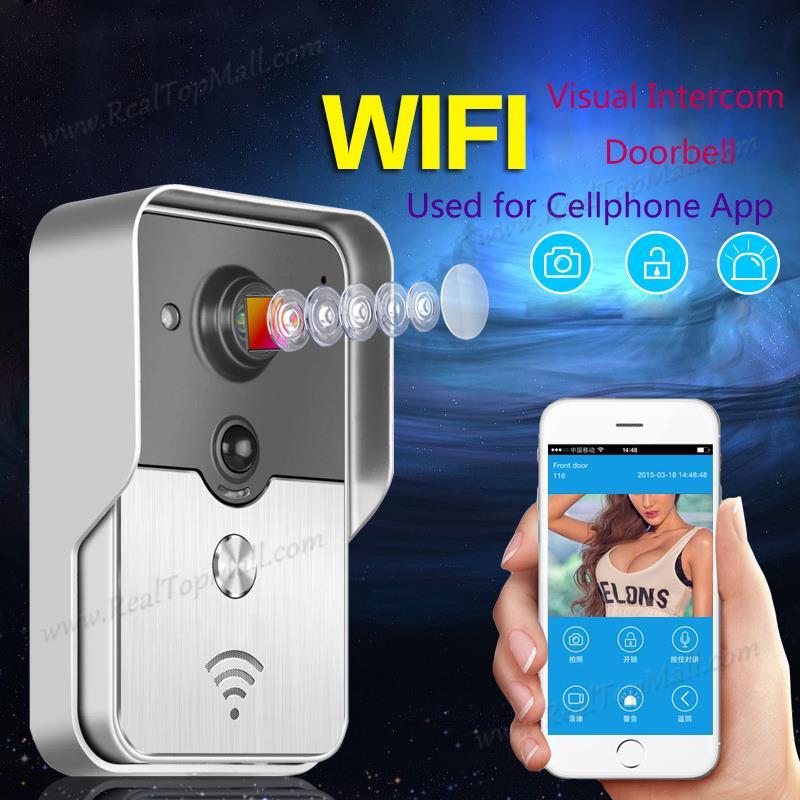 Mobile WiFi Wireless Video Door Phone intercom Doorbell Peephole Camera Night Vision Alarm Smart Home Wirelss Visual Intercom<br><br>Aliexpress