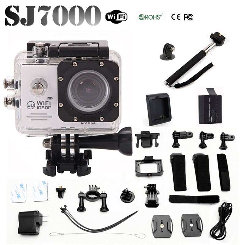Newest SJ7000 WIFI Action Sport Camera 14MP Full HD 1080P 2.0 LCD 170 Degree Lens Underwater 30M Waterproof camera(China (Mainland))
