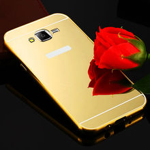 Samsung Galaxy J1 J3 J5 J7 2016 Mirror Aluminum Case SUMSUNG J2 2015 NEW Gold + Acrylic Cover - ToolTech service centre store