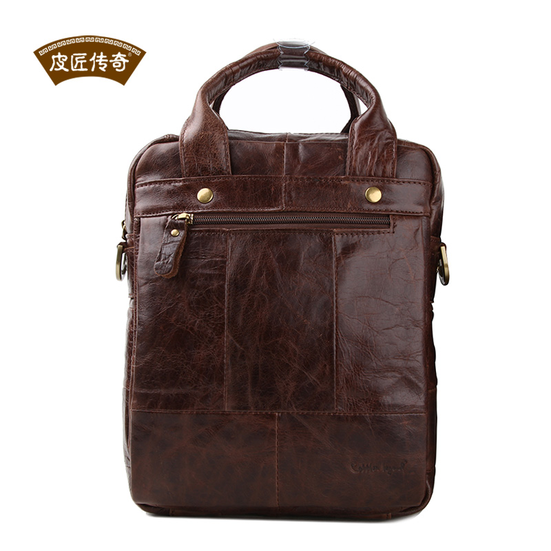 Simple Style Cowhide Leather Man Handbags with Shoulder belt 7050168<br><br>Aliexpress