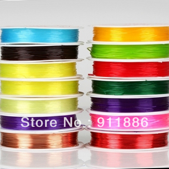 Free Shipping 10Roll/Pack 0.8mm Thickness Clear Crystal Transparent Elastic Fibre Wire Fit Beading Jewelry Cord/Rope/Thread(China (Mainland))