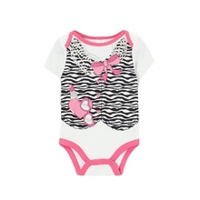 2016 Newborn Baby Boys Girls Cotton Gentleman Jumpsuit Bodysuit Clothes Outfit