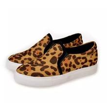 Hot selling!!!2015 2 color choose girls Leopard canvas shoes lady sports shoes flats shoe 35-39 size