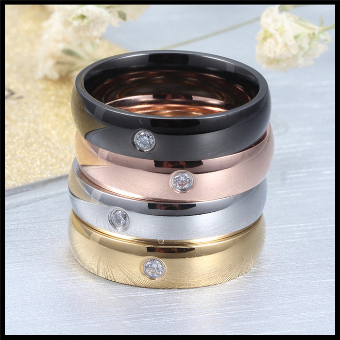 New product titanium steel Hand act the role ofing fashion 5MM Smooth single ring lovers ring(China (Mainland))