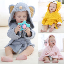 2016 Autumn And Winter Children Flannel Animal Head Children Home Furnishing Serve Bathrobe Robe(China (Mainland))