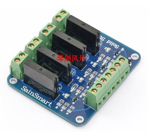 4 Channel 5V Solid State Relay Module Board.OMRON SSR AVR DSP<br><br>Aliexpress