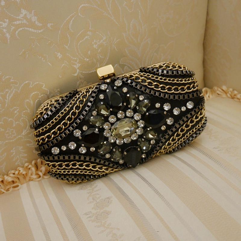 2016 women diamond luxury evening bags designer evening clutch high quality shoulder chain handbags clutch purse wallet L1018