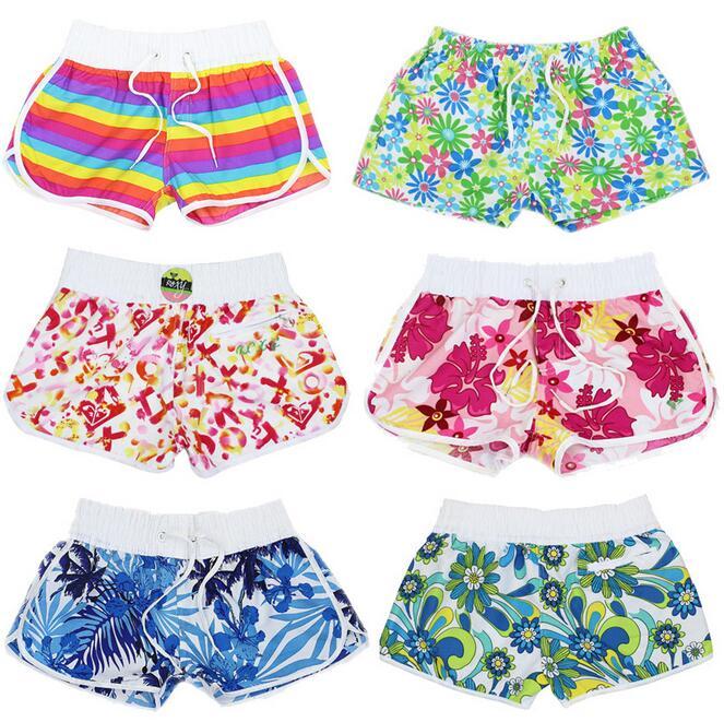 Fashion Brand Women's Wear Beach Swimwear Board Shorts Large Size For Women Green Yellow short de bain femme
