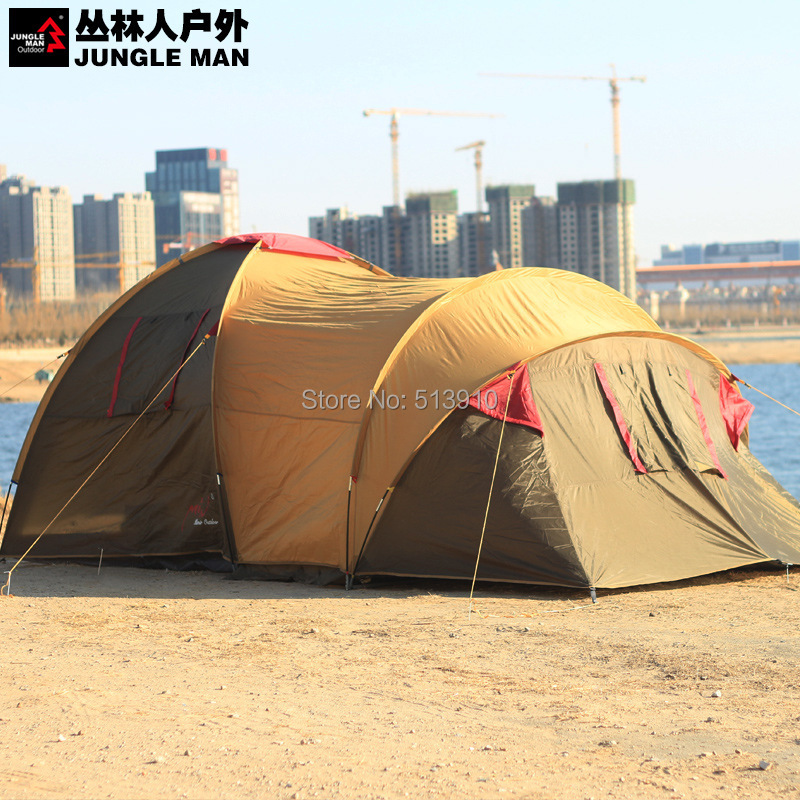 High quality M Mill outdoor tent 6people against rain 2 Bedrooms1 Living room large family camping tent(China (Mainland))