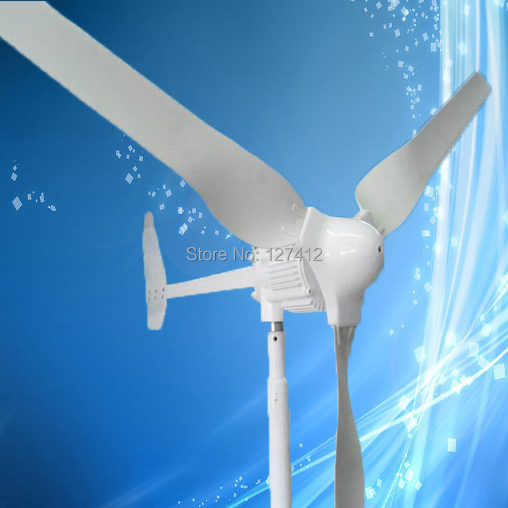 1KW Wind Turbine with 3PCS Blades, 1000W 48V Wind Generator, 2.5M/S Start Up Wind Speed, CE Approved + 3 Years Warranty(China (Mainland))