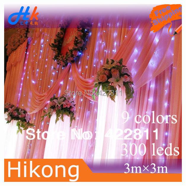 3m * 300 LED Curtain Light String Christmas Wedding Party Holiday Decoration Flash Xmas Background Fairy Lamp - Soha Home Technology store