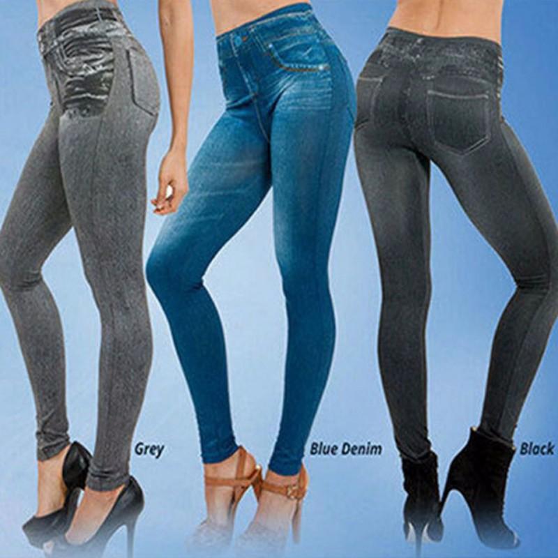 Plus size skinny pants women's winter spring legging slim imitation jean female warm jeggings with 2 real pockets Pencil pants