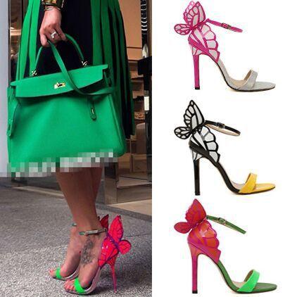 Размер 4 ~ 9 3 цвет женщины на высоких каблуках мода новый бабочка женщины туфли ...