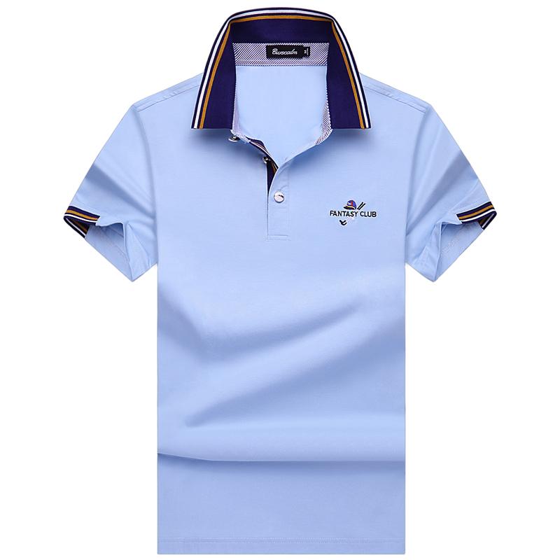 Burscalm men's business casual wear short sleeved T-Shirt New Summer men's T-shirt pure iron(China (Mainland))