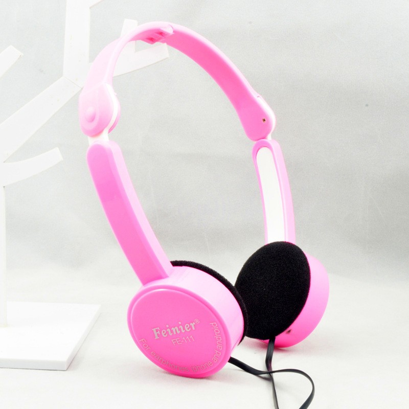 Foldable Portable Headphone Travel Game Headset 3.5mm Earphone With Microphone Wire Control  For Phone Children Kid MP3 MP4 iPad