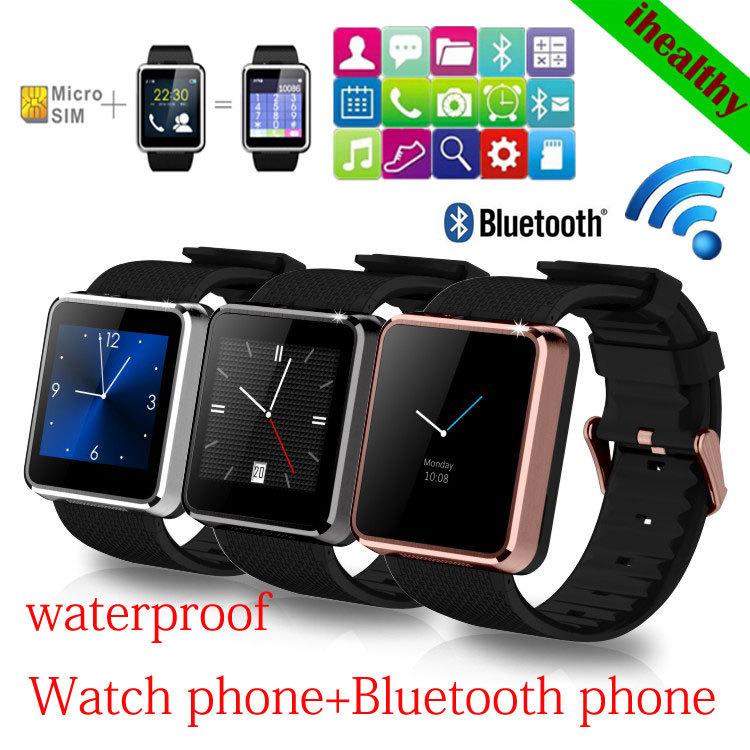 New! Smart Watch F1 Waterproof Wristwatch Men Women Sync Call SMS Facebook Pedometer Sleep Camera Player Anti Lost GSM Phone(China (Mainland))