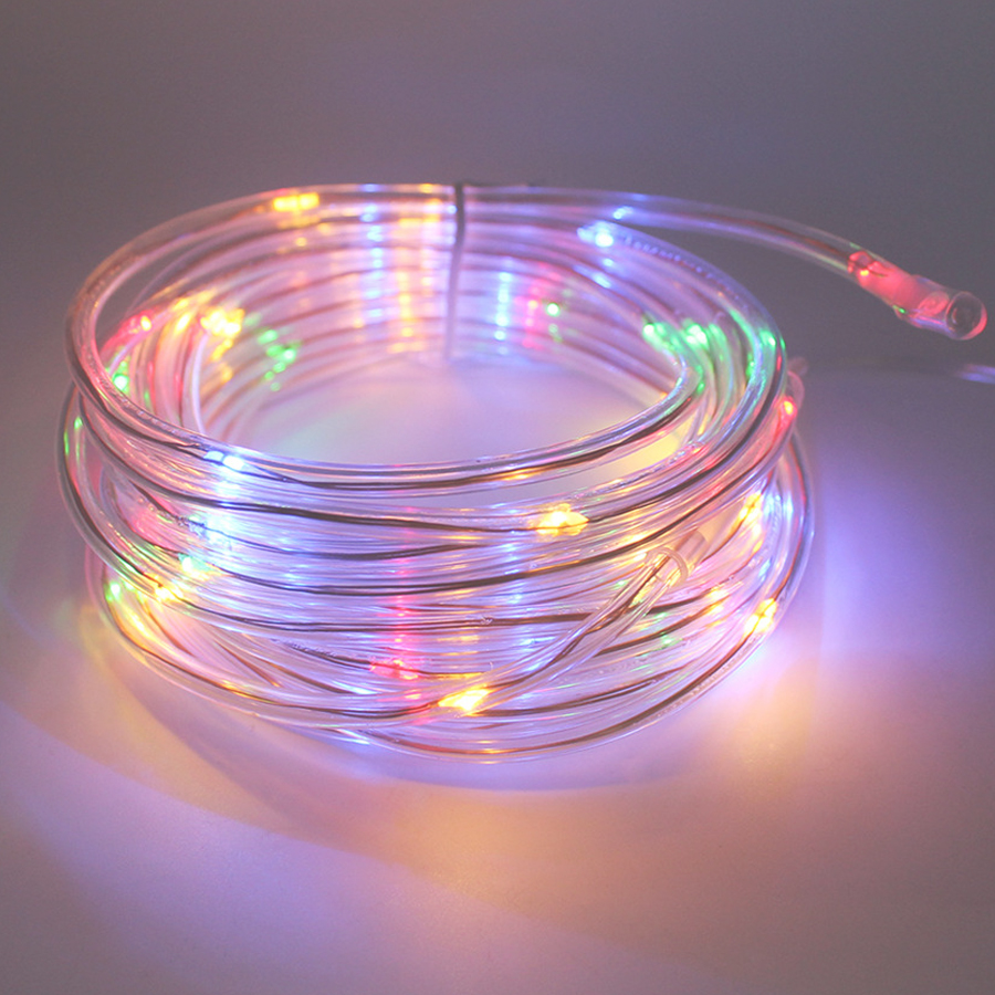 Outdoor String Lights On Fence : 7M 50Leds Solar LED String Lights Outdoor 9 Colors Rope Tube Led String Solar Powered Fairy ...